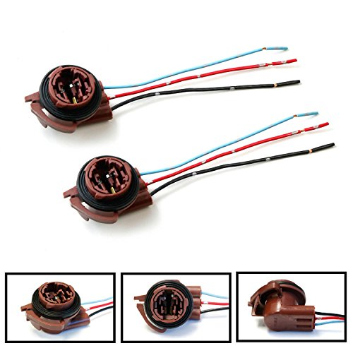 iJDMTOY 3156 3157 Wiring Harness Sockets For LED Bulbs, Turn