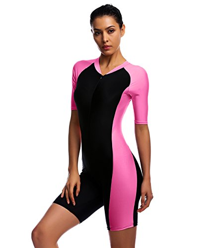 0731a02d7f7 One Piece Swimsuit for Woman Belloo Orange Short-sleeve Surfing Suit ...