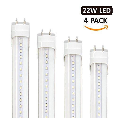16-Pack Barrina T8 LED Light Tube 4ft 24W 6000K Super