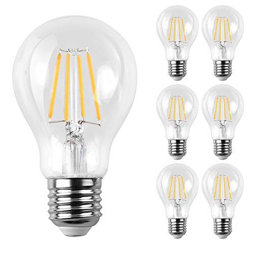 4 Pack 4w Led Filament Candelabra Bulb 40w Incandescent: Ascher E12 LED Classic Candelabra Clear Light Bulb / 4W