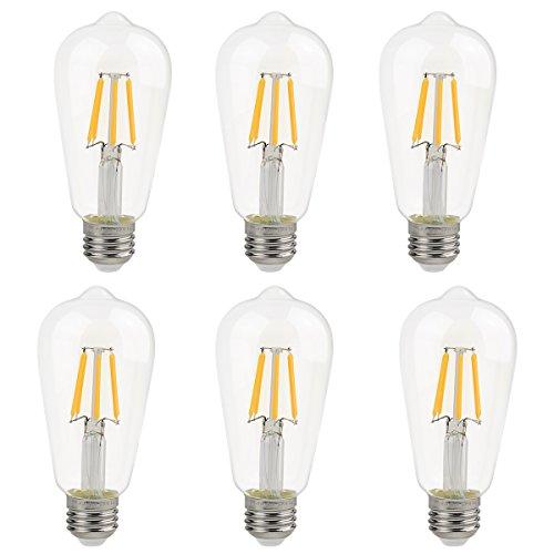 Edison Vintage 110v E26 E27 A19 A60 40w 60w Equivalent: Ascher E12 LED Classic Candelabra Clear Light Bulb / 4W