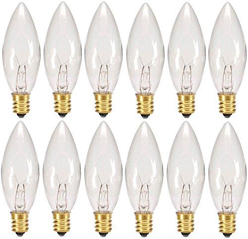 Box Of 25 Light Bulbs C7 Steady Burning Transparent