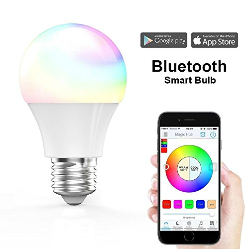 Magic Hue Smart LED Light Bulb, Wi-Fi, Multicolored Dimmable