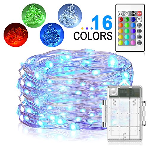LED String Lights, Yoozon 16ft 50 LEDs Fairy Lights Battery Operated on 4 wire trailer connector wiring diagram, 4 wire wiring diagram light, 4 wire led color transformer,