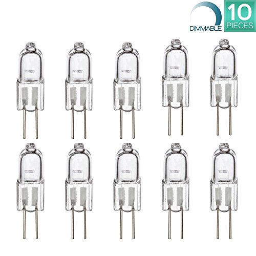 Luxrite LR20910 10-Pack Q10T3/G4/12V 10-Watt Halogen Pin
