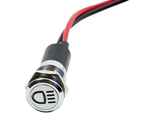 Alpinetech PLB12MS 12mm 1/2″ 12V LED Metal Signal Indicator