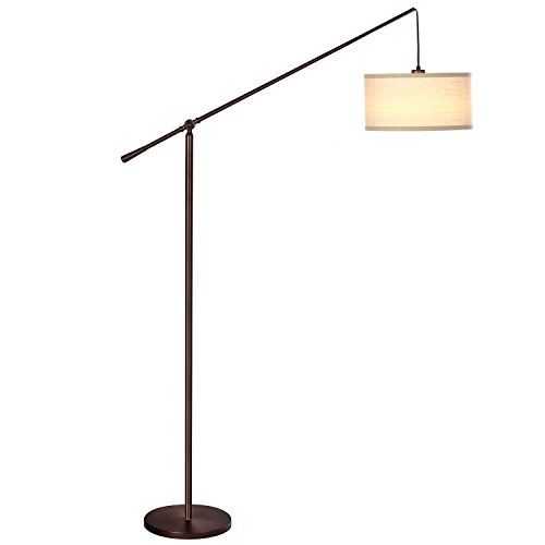 Brightech Trilage Led Floor Lamp With Marble Base 3 Arc Arm 3 Head Light With Traditional