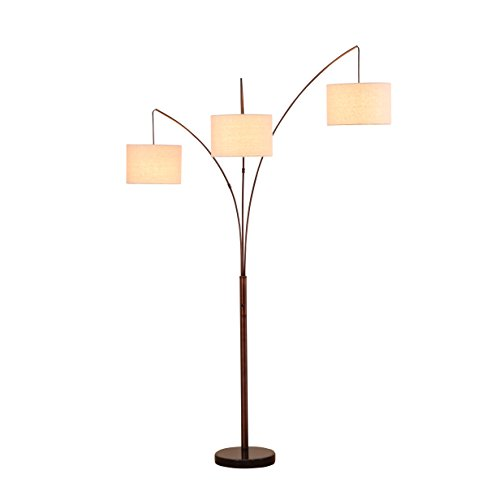 Brightech Trilage Led Floor Lamp With Marble Base 3 Arc