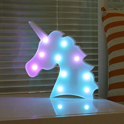 Colorful Delicore Color Changeable Unicorn Marquee Signs Unicorn