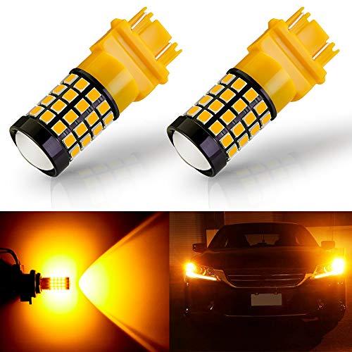 ANTLINE Newest 3157 LED Bulb Amber Yellow 2 Pack, 9-30V