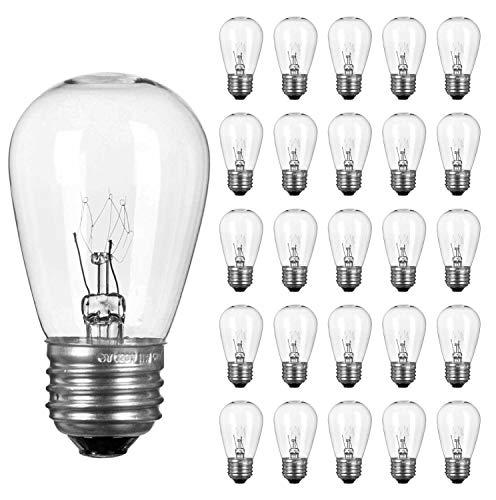 25 Pack 7 Watt 120v Candelabra Base Clear Night Light Bulb