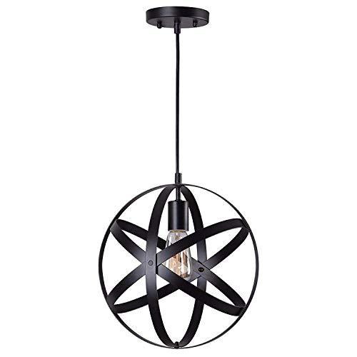 black industrial vintage metal globe ceiling light pendant